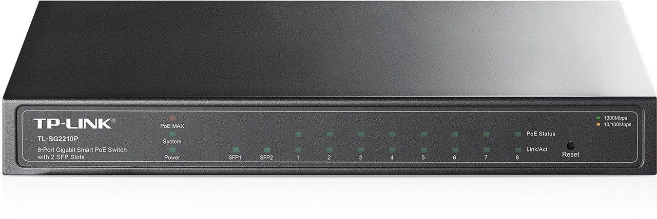 TP-Link SG2210P switch 8x1GB 2xSFP PoE