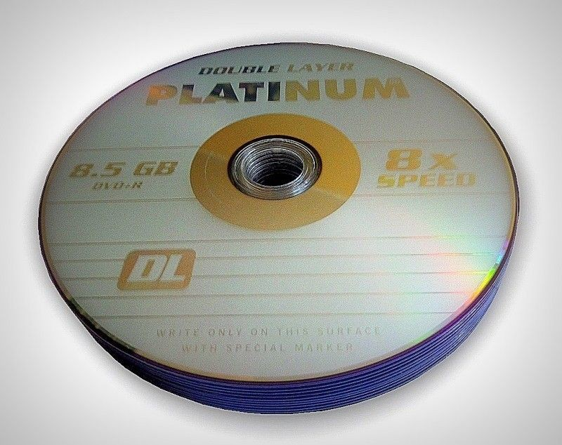 Platinum DVD+R PLATINUM 8,5GB 8x DOUBLE LAYER SZP 10 SZT
