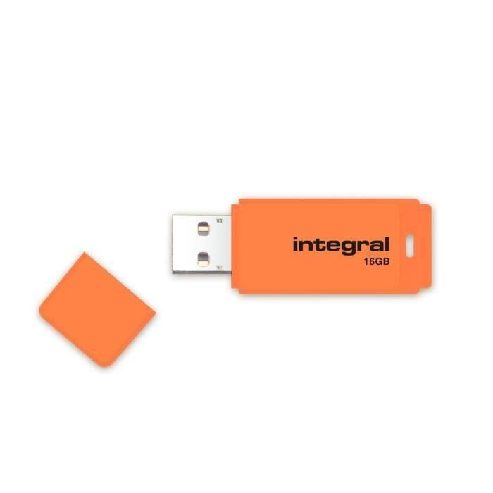 Integral pamięć USB Neon 16GB USB 2.0 - kolor pomarańczowy