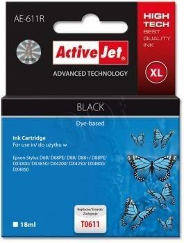 ActiveJet Tusz ActiveJet AE-611R | Czarny | 18 ml | Epson T0611