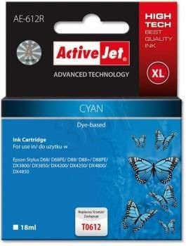 ActiveJet Tusz ActiveJet AE-612R | Cyan | 18 ml | Epson T0612