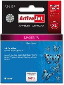 ActiveJet Tusz ActiveJet AE-613R | Magenta | 18 ml | Epson T0613