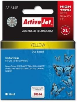 ActiveJet Tusz ActiveJet AE-614R | Yellow | 18 ml | Epson T0614