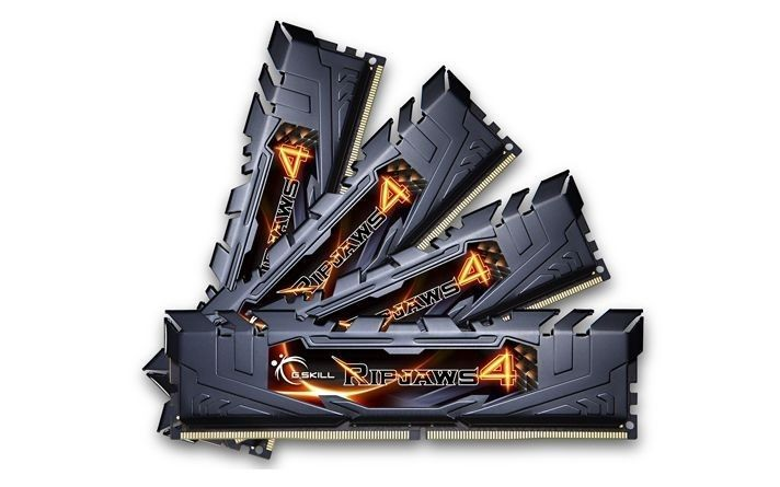 GSkill DDR4 32GB (4x8GB) Ripjaws4 2400MHz CL15 XMP2 Black