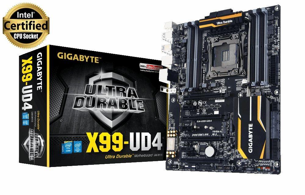 Gigabyte GA-X99-UD4, X99, QuadDDR4-2133, SATA Express, SATA3, RAID, ATX
