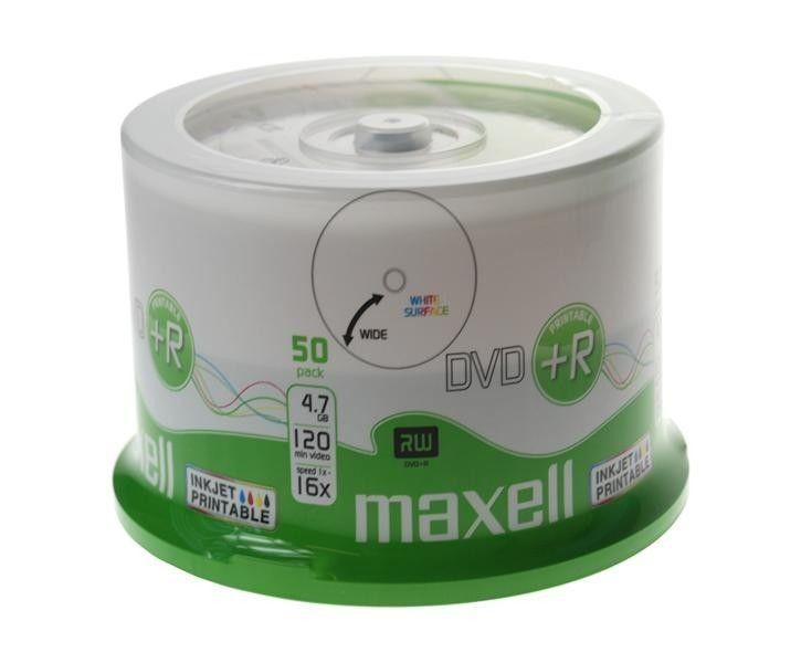Maxell DVD+R 4,7 GB 16x PRINTABLE cake 50szt