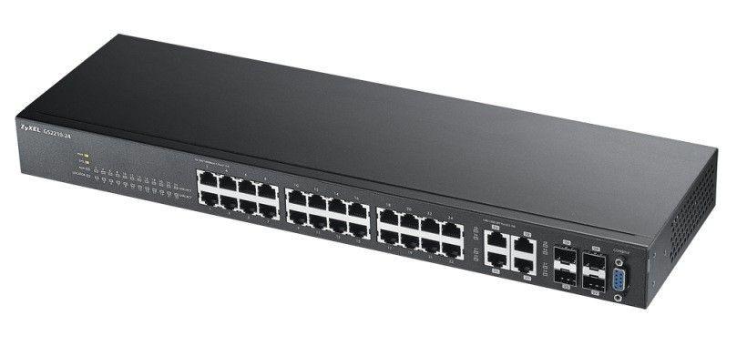 ZyXEL Zyxel GS2210-24 24-port GbE L2 Switch, 4x GbE combo (RJ45/SFP) ports