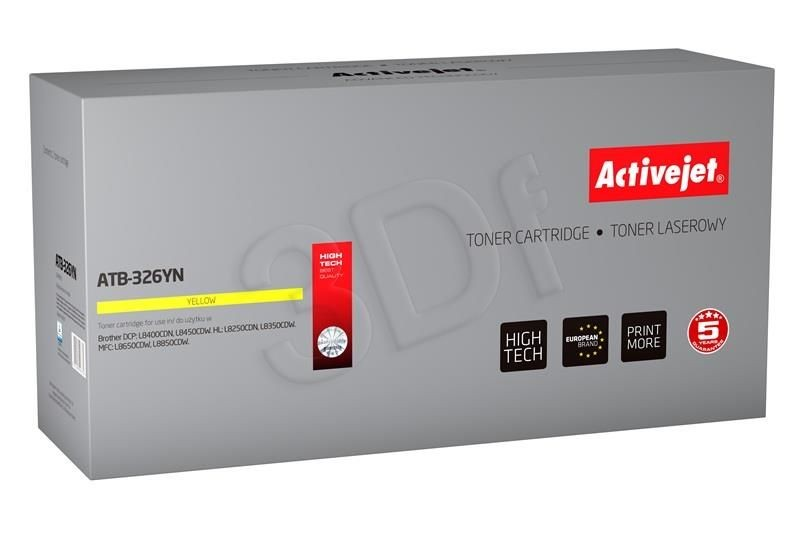 ActiveJet Toner ActiveJet ATB-326YN | Yellow | 3500 pp | Brother TN-326Y