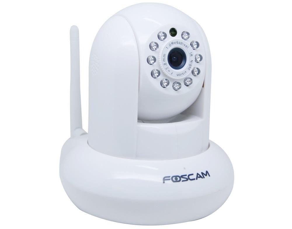 Foscam bezprzewodowa kamera IP FI9821P(white) Pan/Tilt WLAN 2.8mm H.264 720p P2P