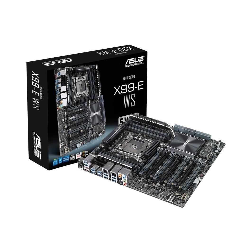 Asus X99-E WS, X99, 8x DDR4-2133MHz, SATA3, RAID, USB 3.0, 4-Way SLI, 7xPCIe