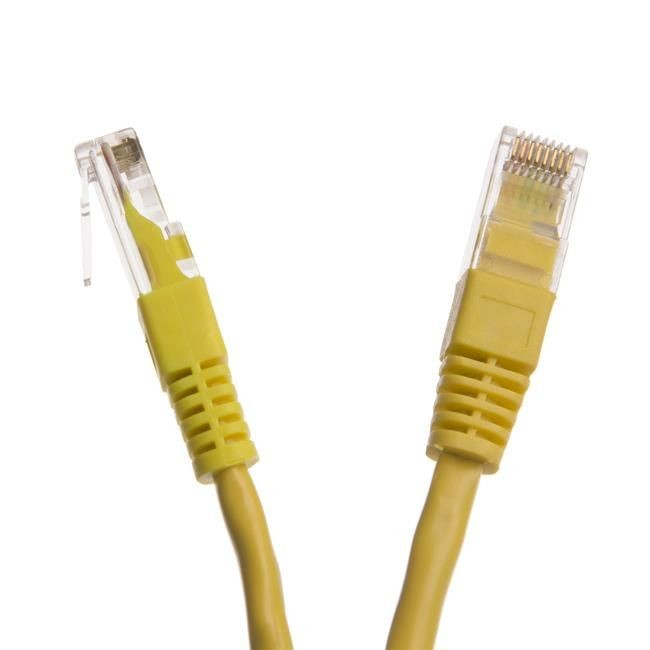 Digitalbox START.LAN patchcord RJ45 kat.6 UTP 0.5m żółty
