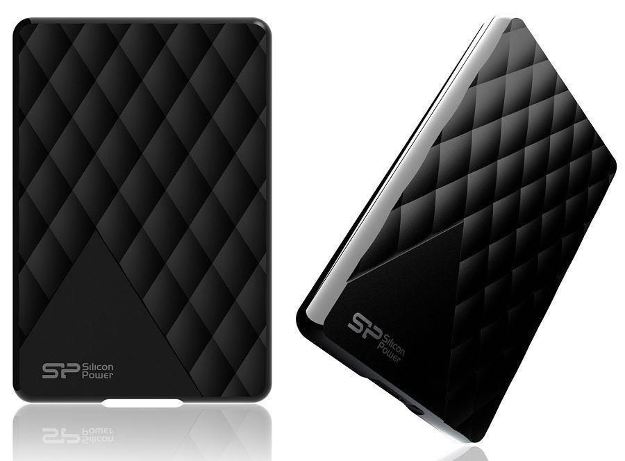 Silicon-Power Dysk zewnętrzny Silicon Power Diamond D06 1TB Black USB 3.1 Super lekki