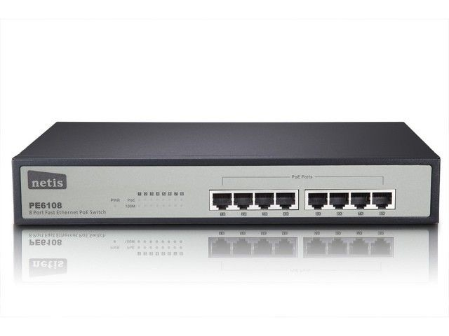 Netis Switch POE 19'' 8-port 100 MB (8 portów POE, 15,4W/Port, max 124W)