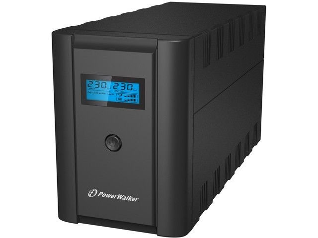 Power Walker UPS LINE-INTERACTIVE 1200VA 2X 230V PL + 2XIEC OUT, RJ11/RJ45 IN/OUT, USB, LCD