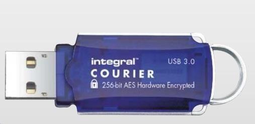 Integral pamięć USB Courier 64GB USB 3.0 + FIPS 197 szybfrowanie R/W:145/45MB/s