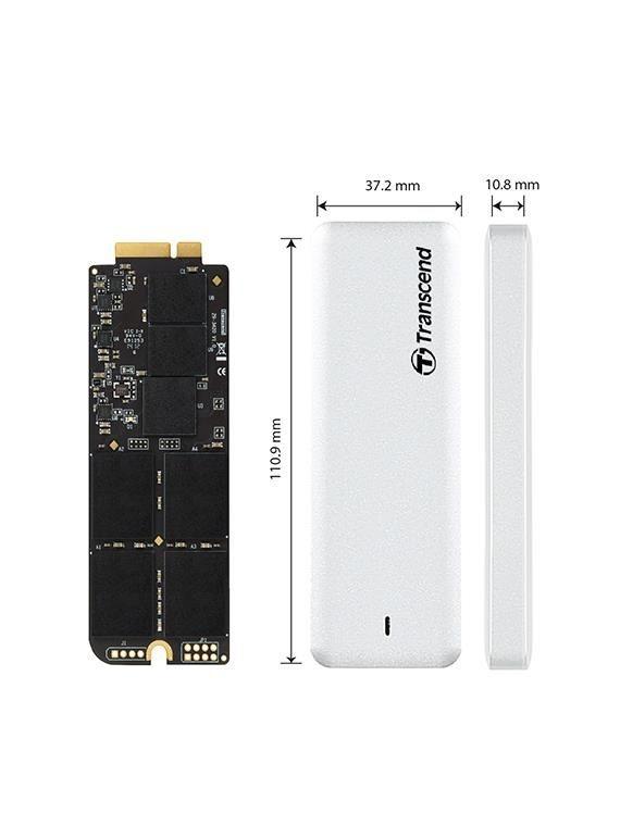 Transcend JetDrive 725 SSD for Apple 480GB SATA 6Gb/s, + Enclosure Case USB 3.0