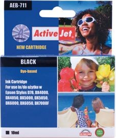 ActiveJet Tusz ActiveJet AEB-711 | Black | 15 ml | Chip | Epson T0711