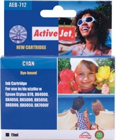 ActiveJet Tusz ActiveJet AEB-712 | Cyan | 15 ml | Chip | Epson T0712