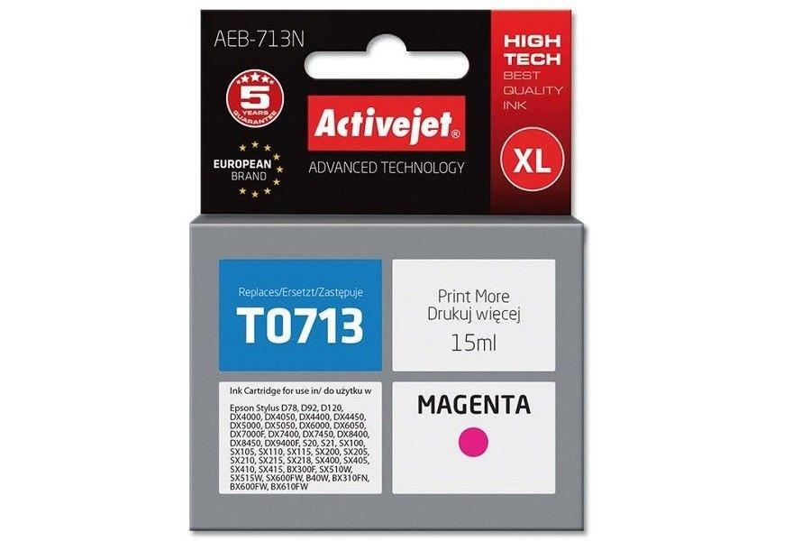 ActiveJet Tusz AEB-713N (do drukarki Epson zamiennik T0713 T0893 T1003 supreme 15ml magenta)