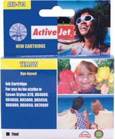 ActiveJet Tusz ActiveJet AEB-714 | Yellow | 15 ml | Chip | Epson T0714