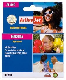 ActiveJet Tusz ActiveJet AE-803 | Magenta | 13,5 ml | Chip | Epson T0803