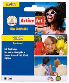 ActiveJet Tusz ActiveJet AE-804 | Yellow | 13,5 ml | Chip | Epson T0804