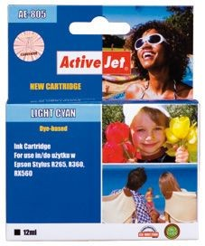 ActiveJet Tusz ActiveJet AE-805N | Light cyan | 13,5 ml | Chip | Epson T0805