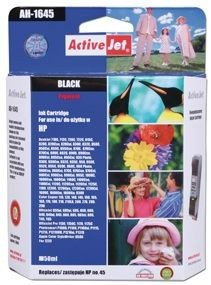 ActiveJet Tusz ActiveJet AH-45R | Black | 50 ml | Regenerowany | HP 51645A HP 45