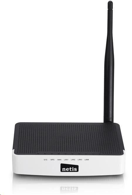 Netis WF-2411-D Lite-N AP/Router, 4x LAN, 1x WAN, 802.11b/g/n, firewall, odpojitelná anténa 5 dBi, VLAN, IPTV