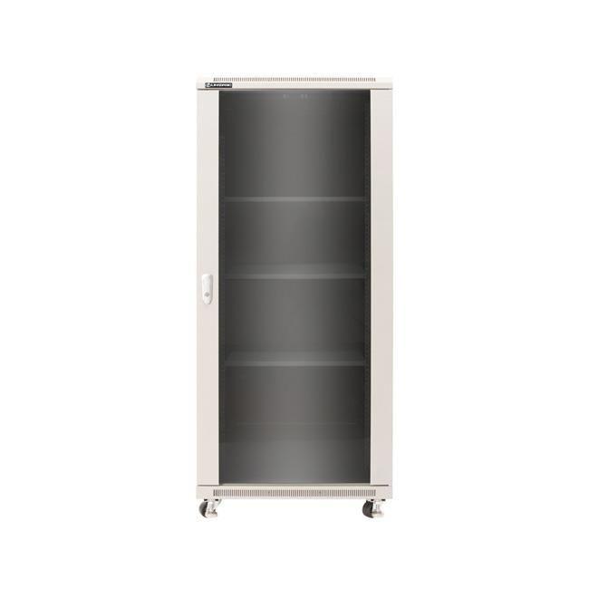 Linkbasic szafa stojąca rack 19'' 37U 600x1000mm szara (drzwi przednie szklane)