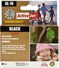 ActiveJet Tusz ActiveJet AL-16 | Black | 13 ml | Regenerowany | Lexmark 10N0016