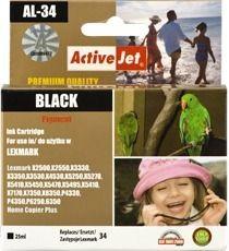 ActiveJet Tusz ActiveJet AL-34 | Black | 25 ml | Regenrowany | Lexmark 18C0034E