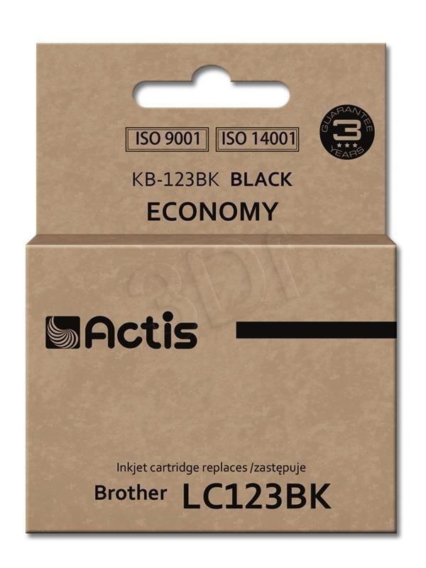 Actis Tusz Actis KB-123BK (do drukarki Brother zamiennik LC123BK/LC121BK standard 15ml czarny)