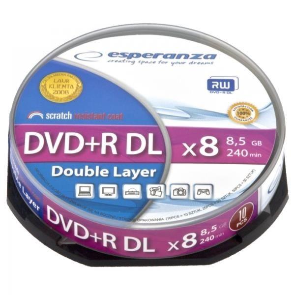 Esperanza DVD+R 8,5GB X8 DL - CAKE BOX 10 SZT.