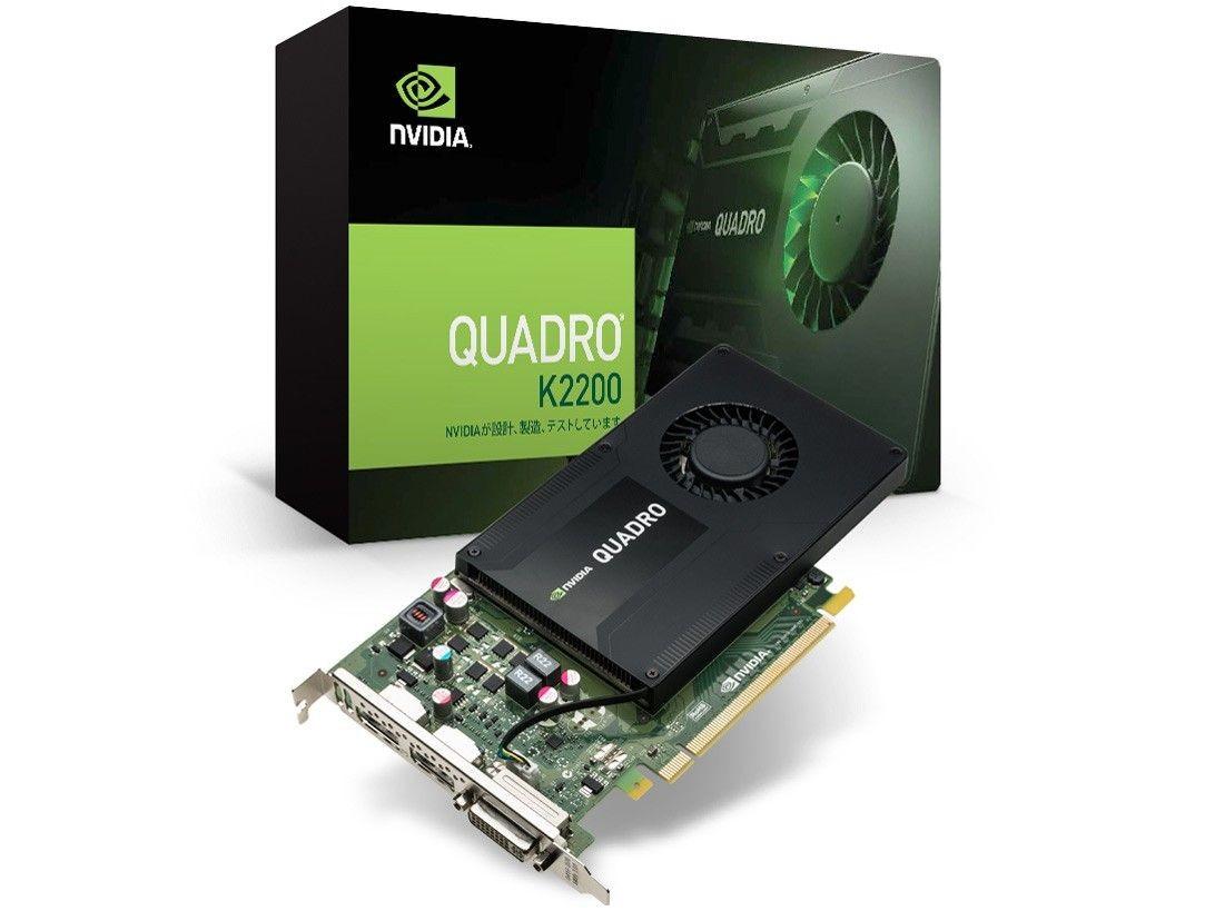 HP NVIDIA Quadro K2200 4GB 2xDP 1xDVI J3G88AA