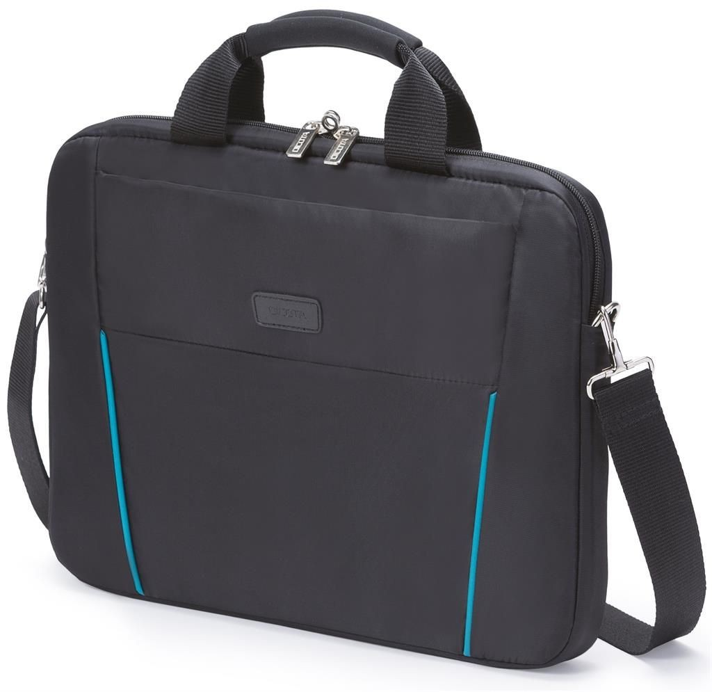 Dicota Slim Case Base 12 - 13.3 black blue czarno niebieska torba na notebook