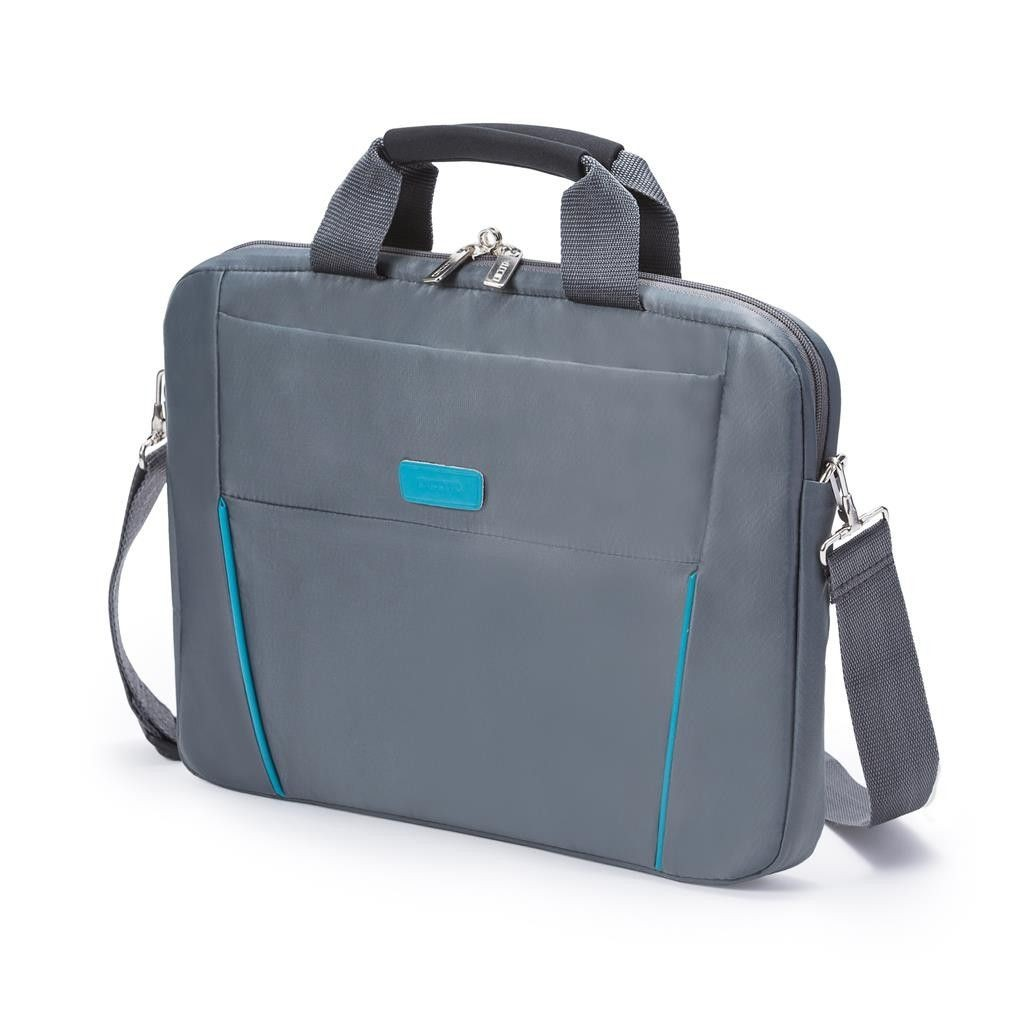 Dicota Slim Case Base 14 - 15.6 grey blue szaro niebieska torba na notebook