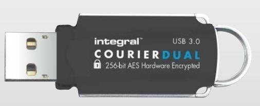 Integral pamięć Courier 64GB USB 3.0 + FIPS 197 Encrypted (R: 145MB/s W: 45MB/s)