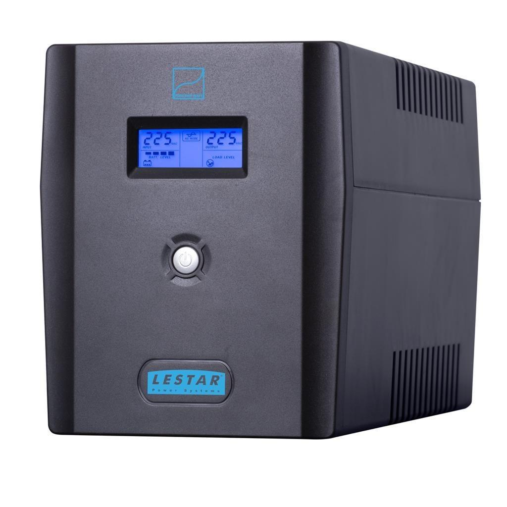 Lestar UPS SIN-2050X 2000VA/1400W Sinus LCD 6xIEC USB RJ 11 BLACK