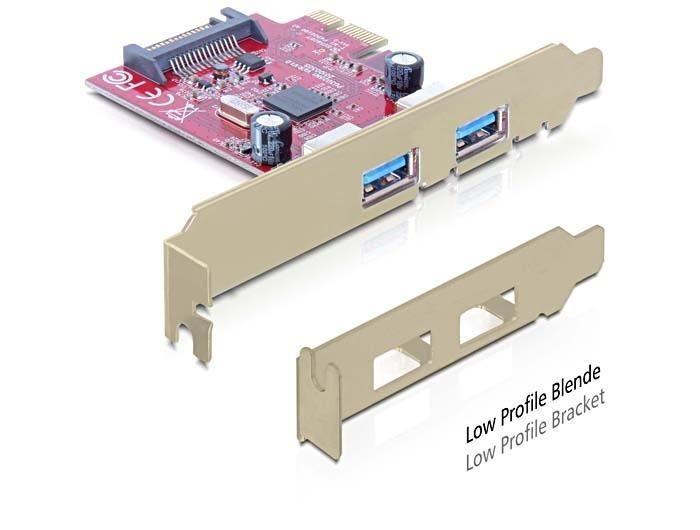 DeLOCK Karta PCI Express > 2x USB 3.0