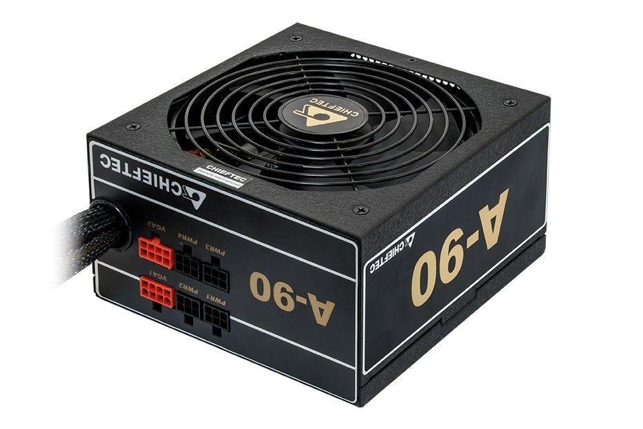 Chieftec zasilacz ATX serii A-90 - GDP-750C, went. 14cm, 750W retail