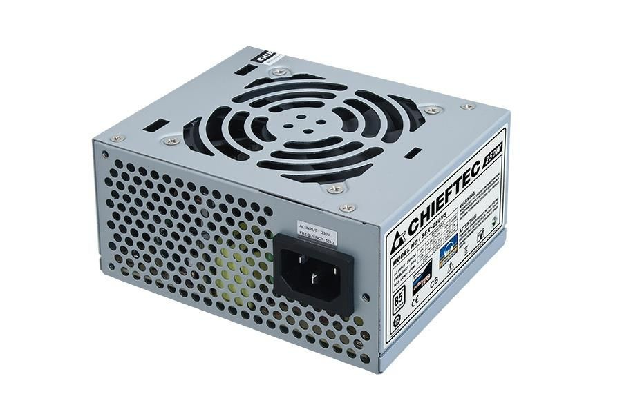 Chieftec zasilacz SFX serii SMART - SFX-250VS, 250W bulk, 8cm fan, active PFC