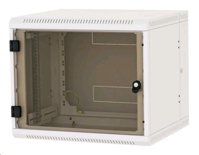 Triton 19 Szafa wisząca dwusekcyjna RBA-09-AD5-CAX-A1 (9U 500mm głębokośc przeszklone drzwi kolor jasnoszary RAL7035)