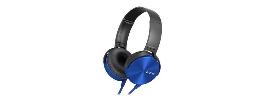 Sony Słuchawki nauszne extra bass niebieskie AP ( z mikrofonem)