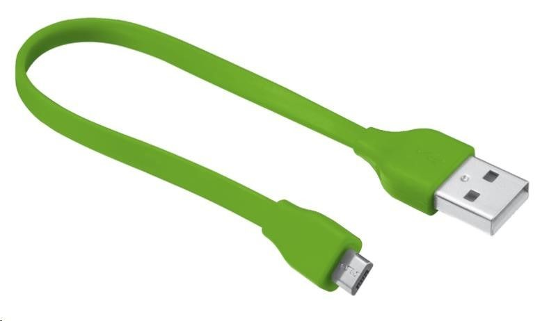 Trust UrbanRevolt Flat Micro-USB Cable 20cm - lime green