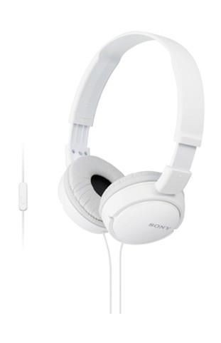 Sony Słuchawki nauszne składane ZX białe AP ( z mikrofonem)