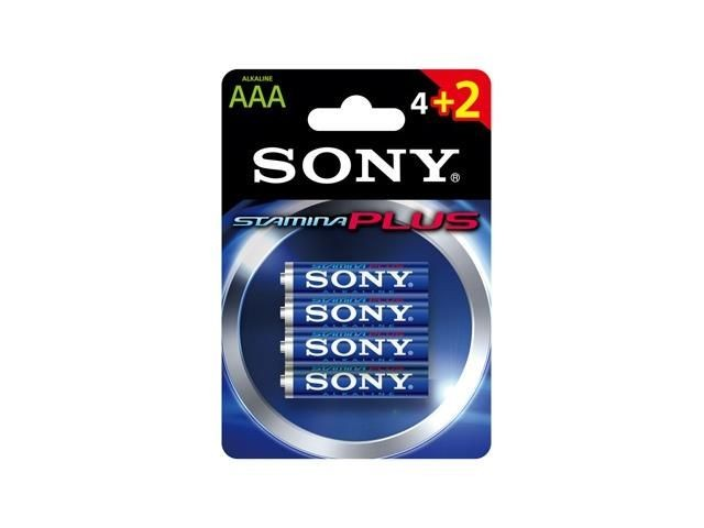 Sony Bateria alkaliczna Sony Stamina Plus LR3 AAA (4+2szt blister)