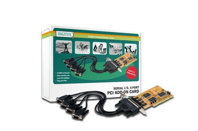Digitus Karta 32-Bit Digitus, PCI, 4xserial (COM), 5 LGW