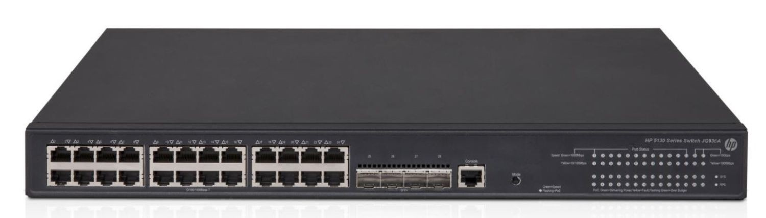 HP 5130-24G-PoE+-4SFP+ EI Switch JG936A - Limited Lifetime Warranty