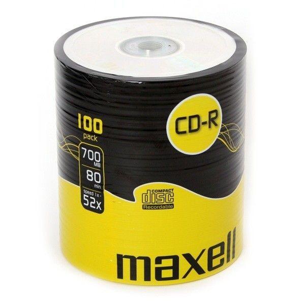 Maxell płyta cd-r 700MB 52x szpindel 100